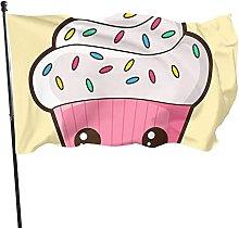 DJNGN Happy Cupcake Piano Cuscino Cortile Bandiera