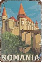 DJNGN Romania Retro pittura in ferro Targa in