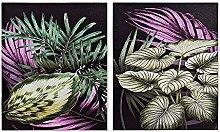 DKD Home Decor Quadro pianta tropicale 40 x 1,8 x