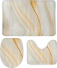 DKISEE - Set di 3 tappeti da bagno in pile corallo