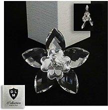DLM30635 Icona Fiore in Cristallo con Quadrifoglio