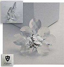 DLM30718 Icona Fiore in Cristallo con Quadrifoglio