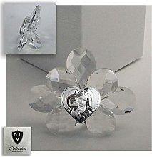 DLM30722 Icona Fiore in Cristallo con Cuore