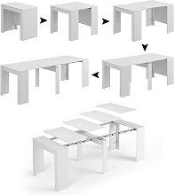 Dmora Consolle-tavolo allungabile, colore Bianco