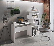 Dmora Scrivania con libreria Alta Moderna,