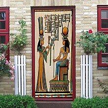 DNHFUI Adesivo Murale Porta Interna donne,