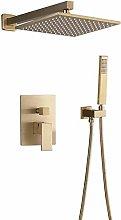 Doccia rubinetto Set Spazzolato Oro Spazzolato