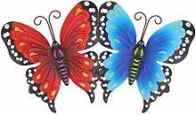 DOITOOL 2Pcs del Metallo della Farfalla di Arte