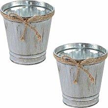DOITOOL 2Pcs Vintage Fiore Vaso Rustico Vaso di