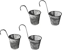 DOITOOL 4Pcs Anging Vasi di Fiori in Metallo da