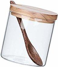 DOITOOL Barattolo in vetro con cucchiaio e
