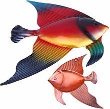 DOITOOL Decorazioni Murali Pesce in Metallo Arte