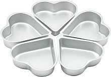 DOITOOL - Stampo per torte, 5 pezzi, in alluminio,