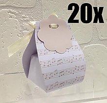 Dolgetta 20 Pezzi Portaconfetti Note Musicali