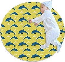 Dolphin - Tappetini rotondi antiscivolo,