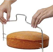 Doppia linea affettatrice per torta regolabile in