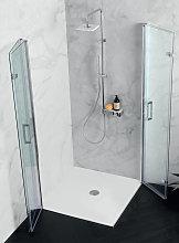Doppia porta doccia PS35 in cristallo 6 mm