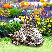 Dormire Drago Statua Esterna,Yard Arte Drago