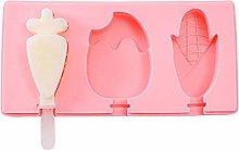 douzxc Stampo per gelato in silicone con coperchio