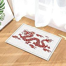 Drago cinese rosso decorativo asiatico Tappeto da