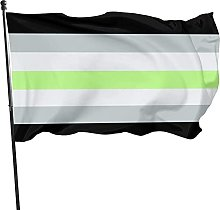 DRXX Agender Pride House Bandiera 150 X 90 cm Asta