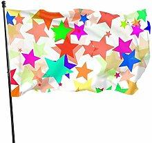 DRXX Bandiera a Stella colorata150x90cm Bandiera