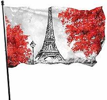 DRXX Bandiera della Torre Eiffel150x90cm Bandiera