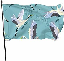 DRXX Bandiera delle Gru volanti150x90cm Banner per