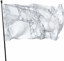 DRXX Bandiera di Marmo Nero chiaro150x90cm Banner