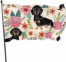 DRXX Bandiera per Cani e fiori150x90cm Bandiera