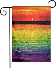 DRXX Brillante Arcobaleno Giardino Bandiera