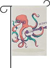 DRXX Chitarra Octopus 30X45cmBandiere da Giardino