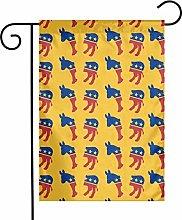 DRXX Decorazione Bandiera da Giardino Asino