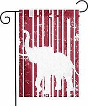 DRXX Decorazione con Bandiera da Giardino Alabama