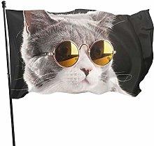 DRXX Occhiali Carini Bandiera del gatto150x90cm