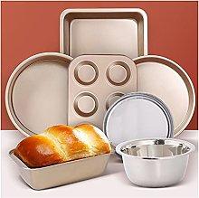 DSWHM - Set di 7 teglie da forno per torte, pane,