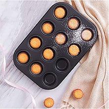 DSWHM - Stampo da forno per muffin, cupcake, 12