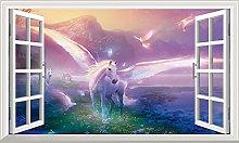 DT Poster Unicorno Adesivo per finestra 3D Adesivo