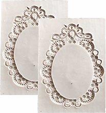 DUBENS 2 pezzi Retro Specchio cornice in silicone