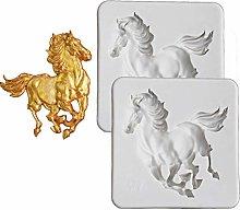 DUBENS 2 stampi a forma di cavallo, in silicone