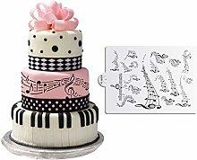 DUBENS Musical Stencil per Feste, Torte,