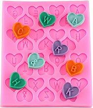 DUBENS Stampo a forma di cuore con lettere di