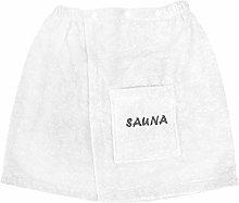 Dyckhoff - Kilt Sauna da Uomo 50/146 cm, Bianco