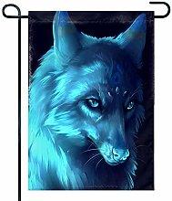 Eastlif Bandiera del Giardino di Lupo Blu Animale,