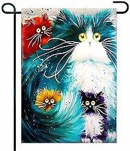 Eastlif Bandiera Giardino 5D gato bricolaje