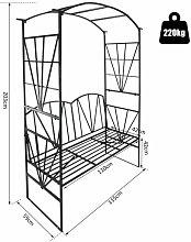 EASYCOMFORT Panchina da Giardino 2 Posti con Arco