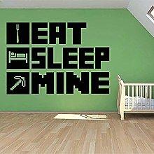 Eat Sleep My Gaming Adesivo Murale Poster Per