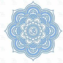Eco-friendly Grande Mandala Vinile Adesivo Yoga