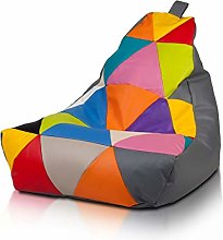 Ecopuf Keiko M Poltrona Sacco Patchwork Design -