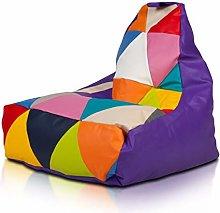 Ecopuf Keiko S Poltrona Sacco Patchwork Design -